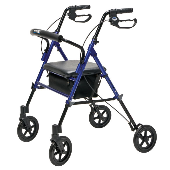 Wide Height-Adjustable Rollator