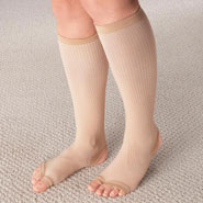 Compression Hosiery - Stirrup Compression Stockings with Gel, 15–20 mmHg