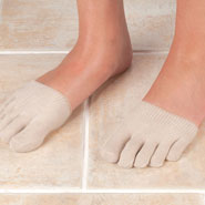 Clearance - Healthy Steps™ Anti-Slip Forefoot Toe Socks, 1 Pair