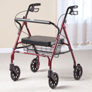 Walking Aids - Go-Lite Bariatric Steel Rollator