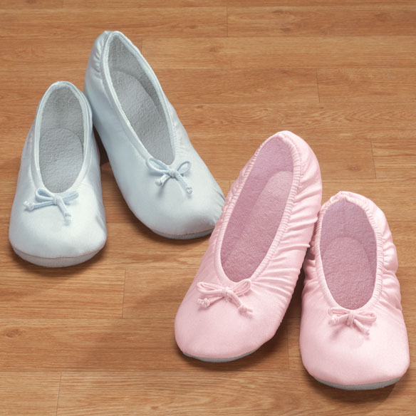 Satin Ballet Slippers - View 1