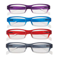 Reading Aids - Colorful Ombre Readers with Spring Hinge