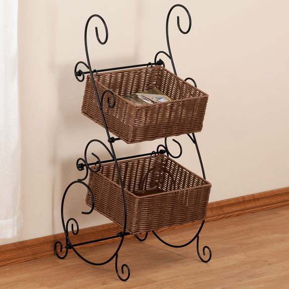 Wicker & Metal Storage Baskets by OakRidge™ - View 1