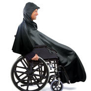 Cold Weather Safety - Wheelchair Rain Poncho