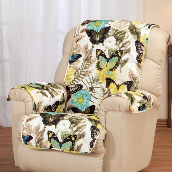 Butterfly Microfiber Recliner Cover