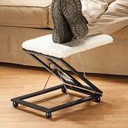 Home Comforts - Sherpa Wooden Footrest by OakRidge Accents™