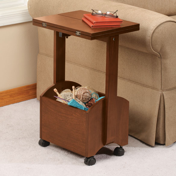 Rolling Folding Side Table by OakRidge™ Accents