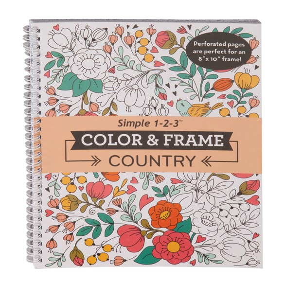 Color & Frame Country Coloring Book