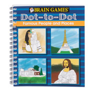 Hobbies & Books - Brain Games® Famous People Dot-to-Dot Puzzle Book