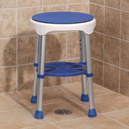 Bathroom Safety - Compact Swivel Stool