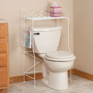 Bathroom Accessories - Foldable Over the Tank Stand by OakRidge Accents™