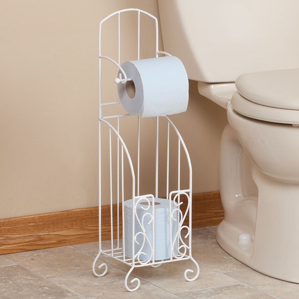 Toilet Paper Stand with Storage by OakRidge Accents™ - View 1