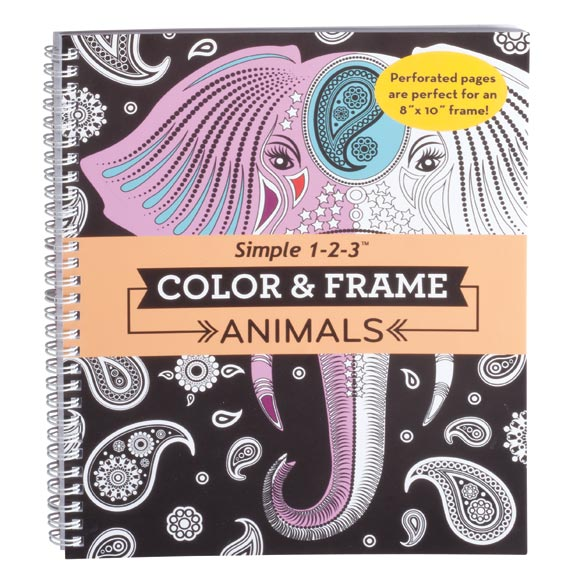 Adult Color & Frame Animals Coloring Book