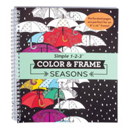 Gifts Under $10 - Adult Color & Frame Seasons Coloring Book