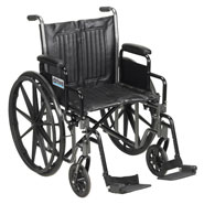 Wheelchairs & Accessories - Wheelchair with Elevating Leg Rests