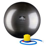 Exercise & Fitness - Professional-Grade, Anti-Burst Stability Ball with Pump