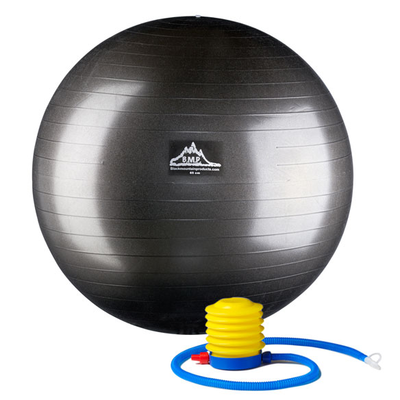 Professional-Grade, Anti-Burst Stability Ball with Pump - View 1