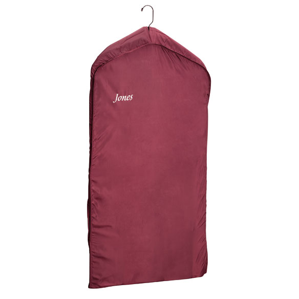 Personalized Burgundy Nylon Dress Bag - View 1