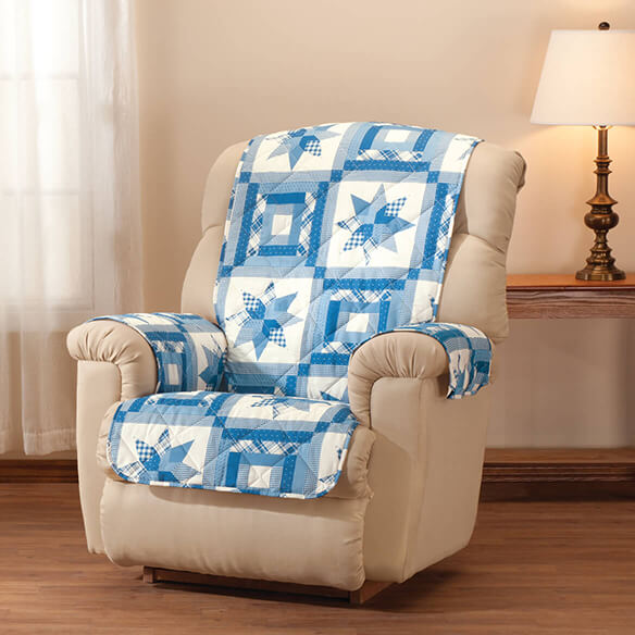 Star Quilt Print Recliner Cover - View 1
