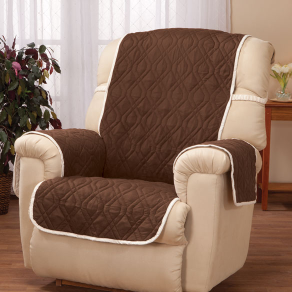 Deluxe Reversible Waterproof Recliner Chair Cover Easy