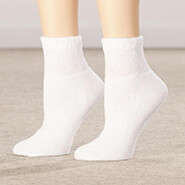 Diabetic Hosiery - Healthy Steps™ 3 Pack Quarter Cut Diabetic Socks
