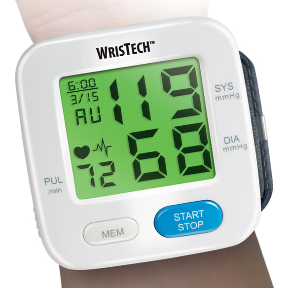 Color Changing Wrist Blood Pressure Monitor