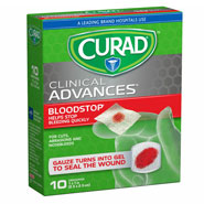 "Skin & Wound Care - Curad® Bloodstop® Gauze Packets, 1"" x 1"", 10 Count"