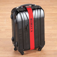 Auto & Travel - Personalized Red Luggage Strap