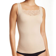 Undergarments - Shaping Tank with Lace Modesty Panel