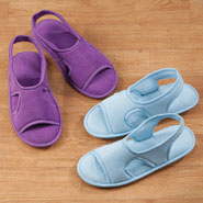 Comfort Footwear - Terry Memory Foam Slipper