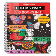 Brain Health - Adult 3-in-1 Animals, Seasons, Inspiration Coloring Book