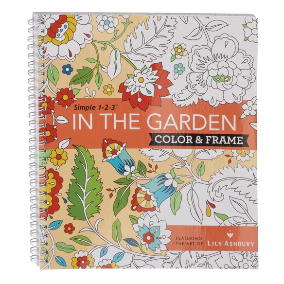Adult Color & Frame Garden Coloring Book - View 1