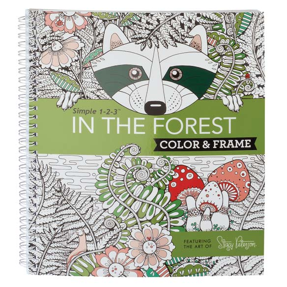 Adult Color & Frame Forest Coloring Book - View 1