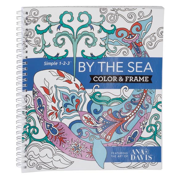 Adult Color & Frame Sea Coloring Book