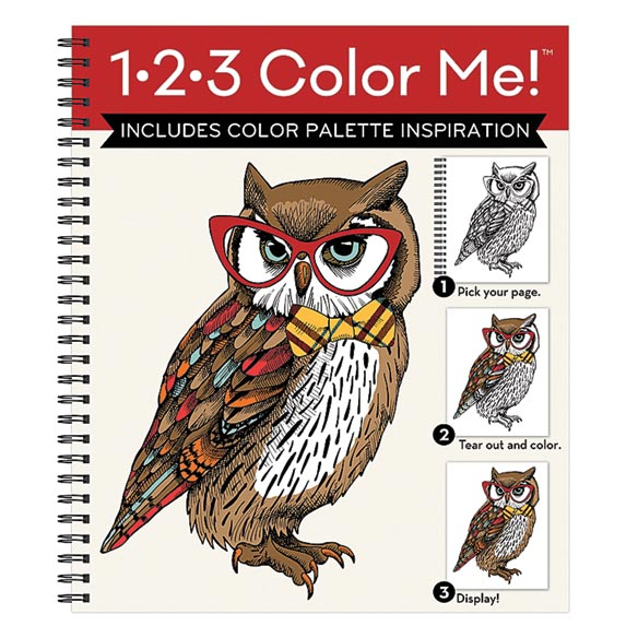 1.2-3 Color Me Flowers Coloring Book