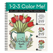 Hobbies & Books - 1.2-3 Color Me Garden Coloring Book