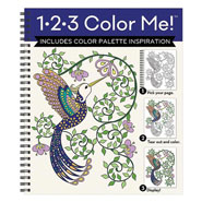 Hobbies & Books - 1.2-3 Color Me Hummingbird Coloring Book