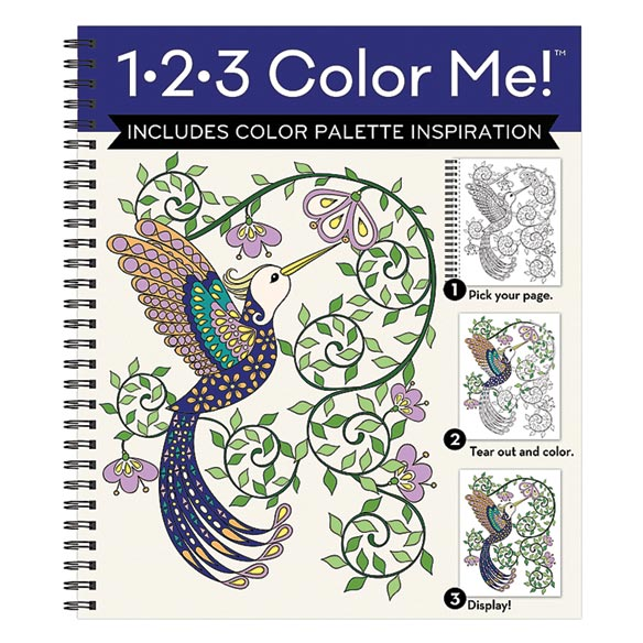 1.2-3 Color Me Hummingbird Coloring Book