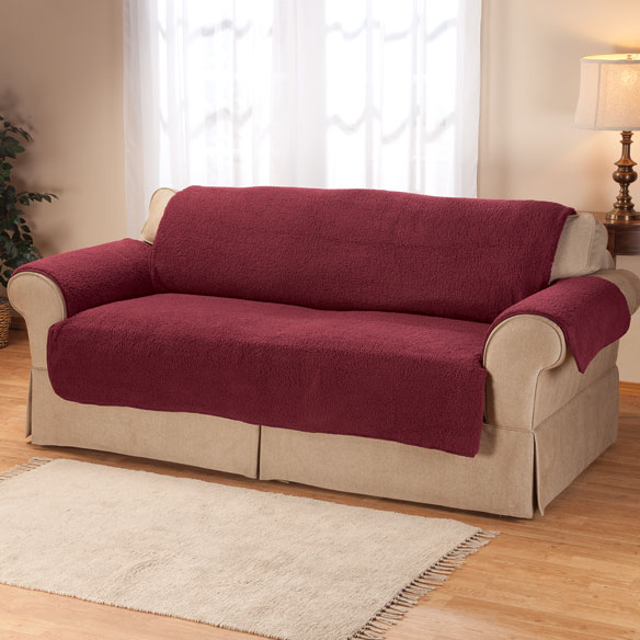 Sherpa Extra-Large Sofa Protector by OakRidge Comforts™ - View 1