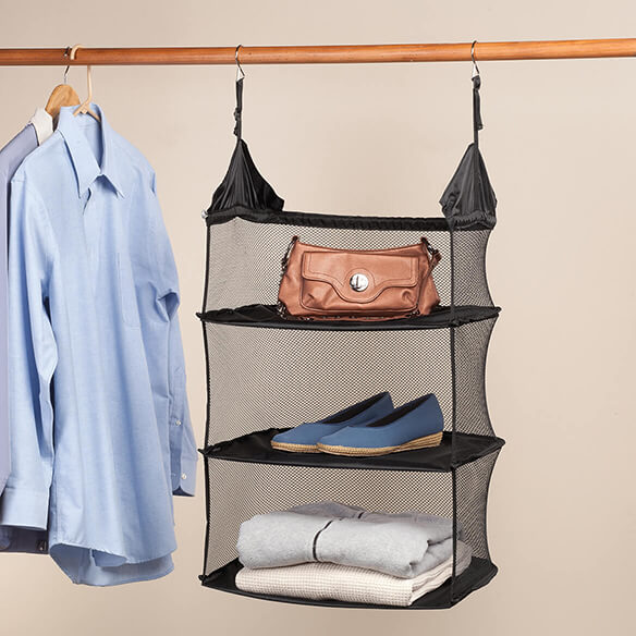 Collapsible Hanging Closet Shelf - View 1