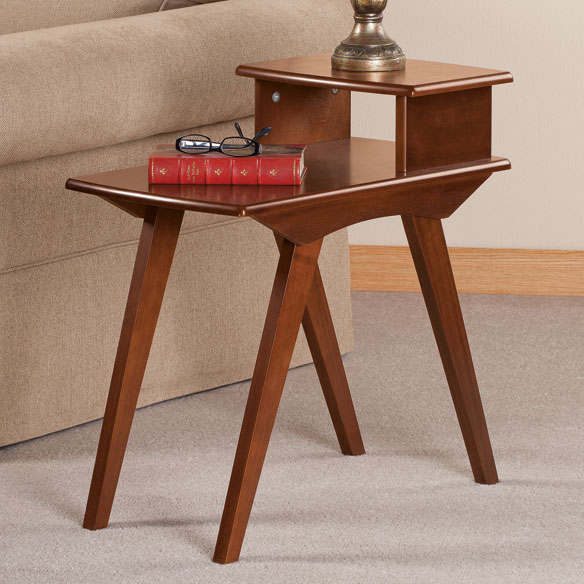 Two-Tier End Table by OakRidge Accents - View 1