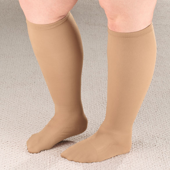 Extra Roomy Compression Socks, 20–30 mmHg - View 1