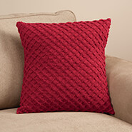 "Bedding & Accessories - Diamond Chenille 16"" Pillow Cover"