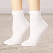 New - Healthy Steps™ 3 Pack Quarter Cut Extra Plush Diabetic Socks