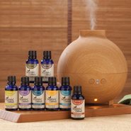Essential Oils - Healthful™ Naturals Deluxe Kit and 600 ml Diffuser