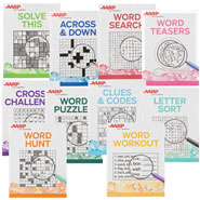 Brain Health - AARP Large Print Puzzle Books, Set of 10