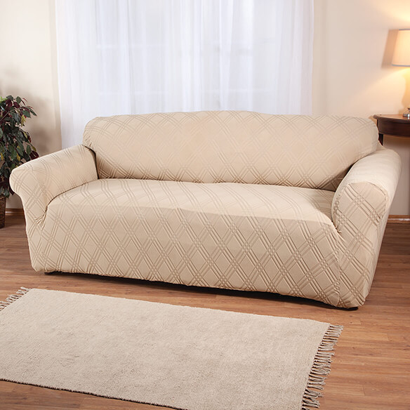 Double Diamond Stretch Sofa Cover
