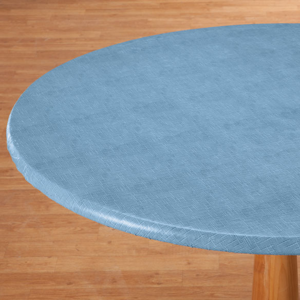 Illusion Weave Vinyl Elasticized Table Cover - View 1