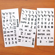 Hobbies & Books - EZ Read Keyboard Labels