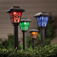 Outdoor - Color Changing Solar Lights, Set of 3